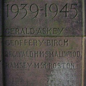 Keele War Memorial, Staffordshire   MilitaryImages Net