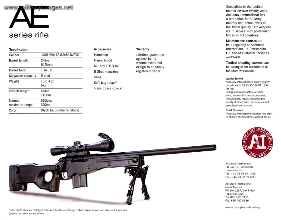 Accuracy International AE series rifle | MilitaryImages Net