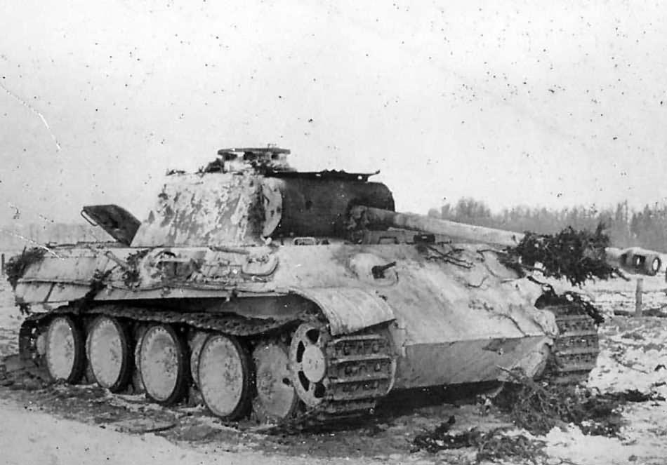 Image result for destroyed panther tank