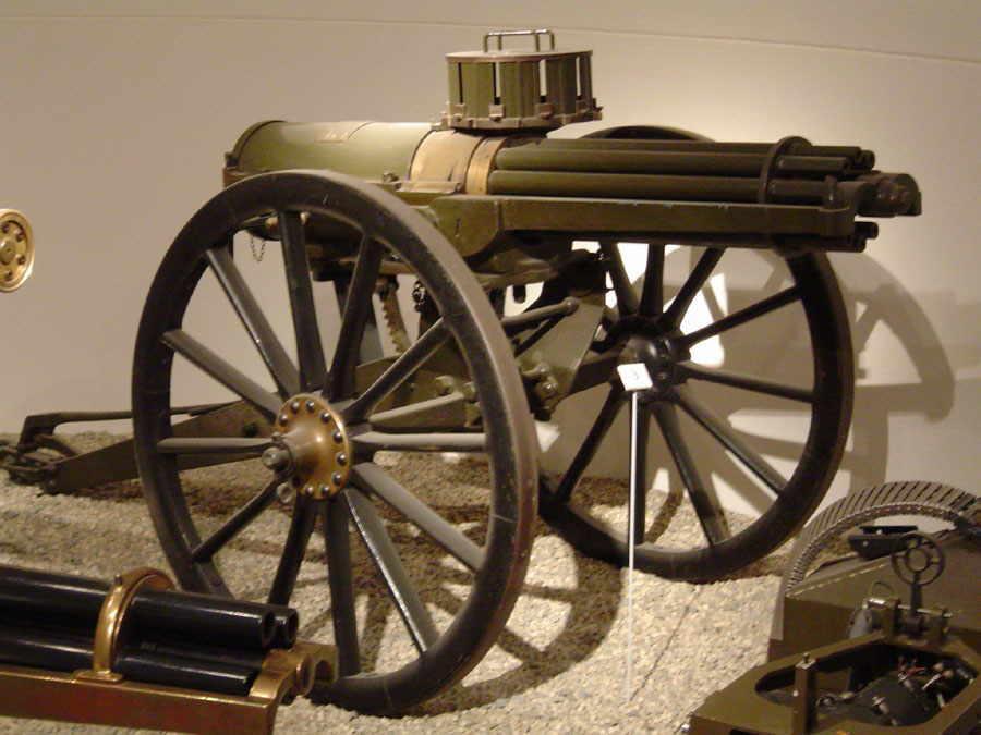 gatling machine gun