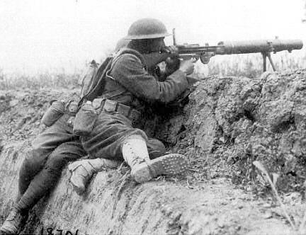 machine gun in ww1