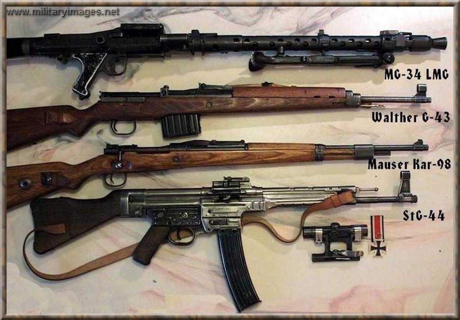 MG-34, Walther G-43, Mauser Kar-98, STG-44 | MilitaryImages Net