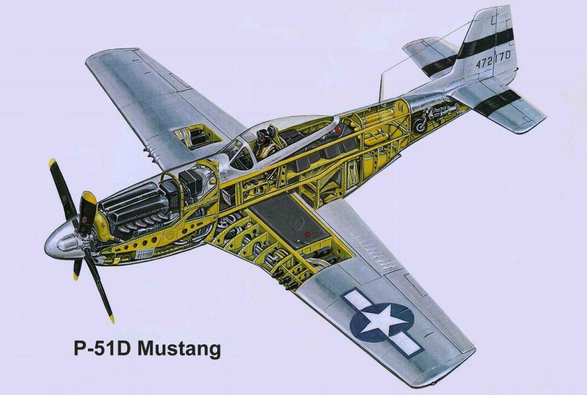 P 51 Mustang Cutaway Militaryimages Net