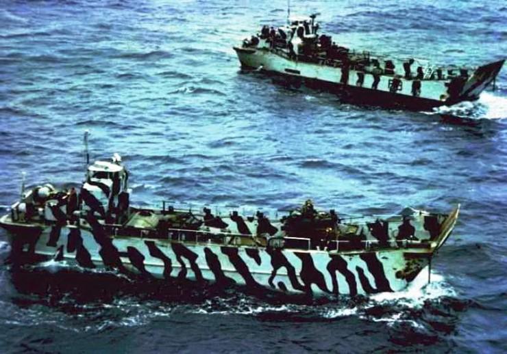 Scimitar CVRT On Landing Craft Falklands War 1982