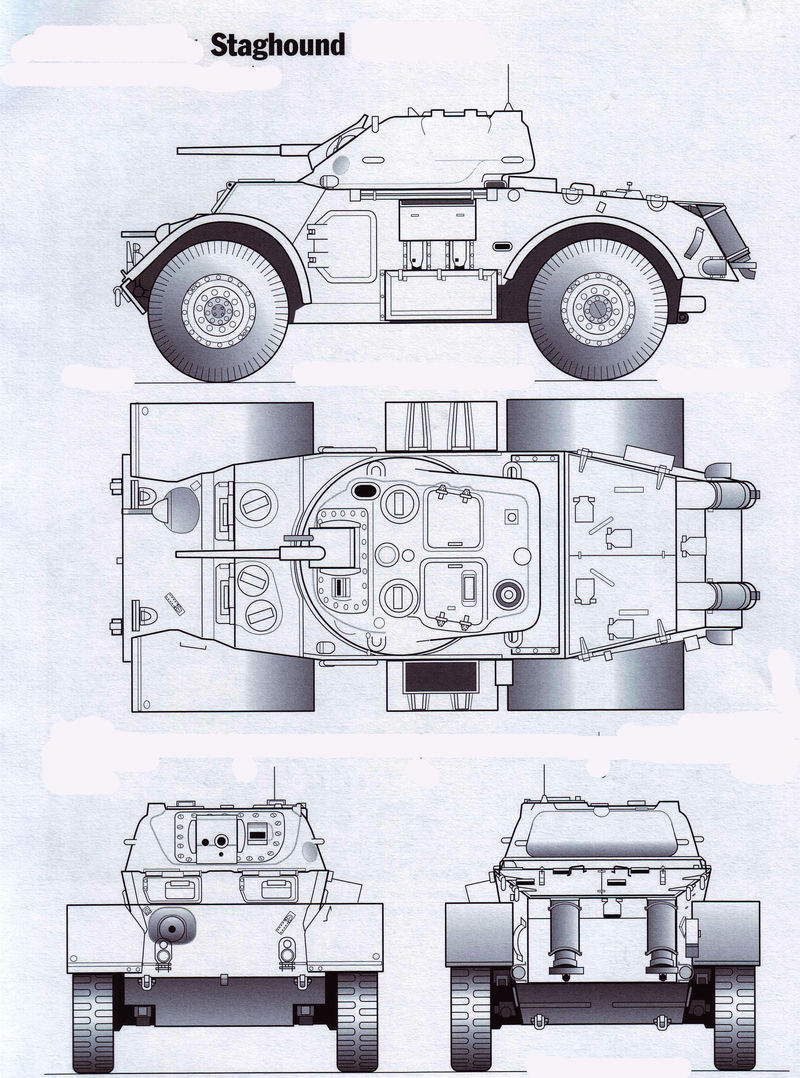 Staghound Armoured Car drawing   MilitaryImages.Net