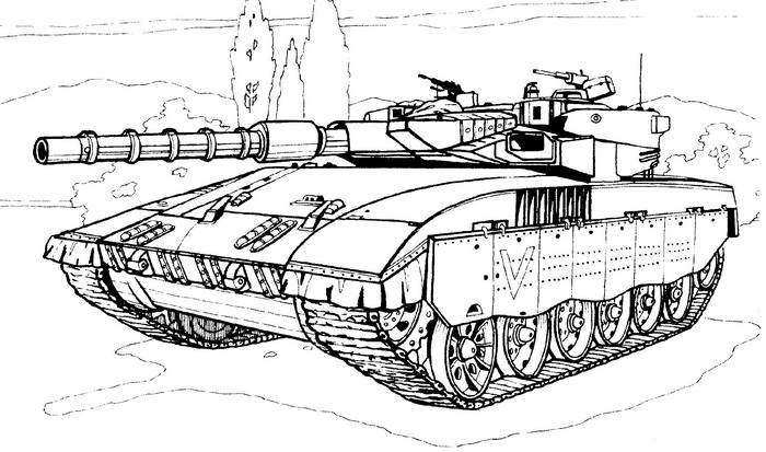 Tank Coloring Pages Free War Military 21