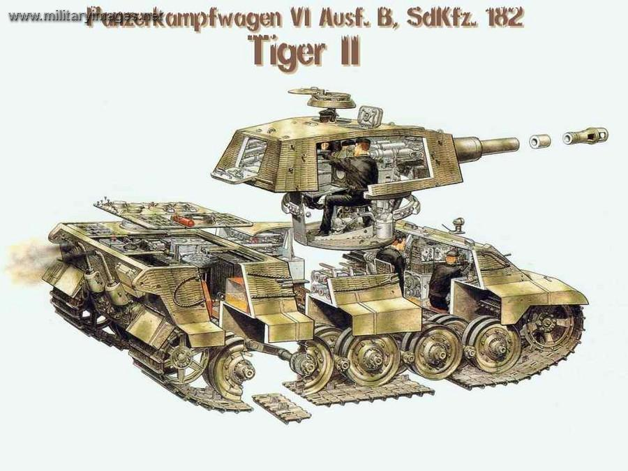 tiger ii exploded cutaway color panzerbob jan 27 2007 - Tiger Pictures To Color 2